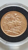 22CT GOLD SOVEREIGN 1891 QUEEN VICTORIA JUBILEE HEAD COIN ST