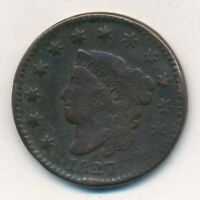 1827 CORONET HEAD LARGE CENT- CIRCULATED LARGE CENT-SHIPS FREE