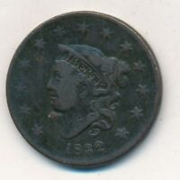 1832 CORONET HEAD LARGE CENT-  CIRCULATED CENT-SHIPS FREE