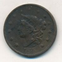 1835 CORONET HEAD LARGE CENT-HEAD OF 1836-  CIRCULATED CENT-SHIPS FREE