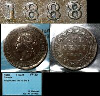 BLACK FRIDAY SALE   CANADA CENT   1888 REPUNCHED LAST 8 LO/HI   VF30 WOW  BF86