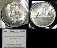BLACK FRIDAY SALE   CANADA $1   1936   ICCS MS65 LUSTROUS  BF97