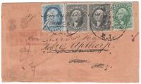 1857 12 BLACK 36 PAIR WITH 1 BLUE TYPE V 24 AND 10 GREEN TYPE II 32 COVER