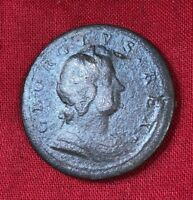1722 PRE REVOLUTIONARY WAR COLONIAL KING GEORGE I COPPER HAL