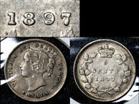 JANUARY SALE   CANADA 5 CENTS   1897 WIDE 8   EF  BFA341