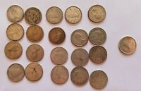 LOT OF 21 CANADIAN SILVER DIMES 1944 1966 80  SILVER