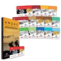 2016 ANZAC TO AFGHANISTAN MILITARY MOMENTS CARDED COIN COLLE