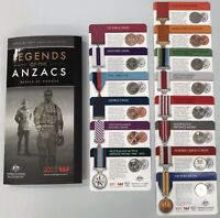 2017 LEGENDS OF THE ANZACS MEDAL OF HONORS CARDED COIN COLLE