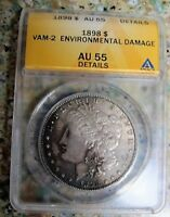 1898 P MORGAN DOLLAR VAM 2 2B  CLOSED 9, RETAINED CUD NITED SEE COMMENTS