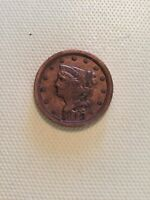 1849 BRAIDED HAIR HALF CENT -LARGE DATE-