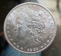 1904 O BU MORGAN DOLLAR VAM 33A COUNTER CLASH OBV DOUBLING CLASHED OBVERSE IN S