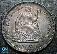 1861 P SEATED HALF DIME  --  MAKE US AN OFFER  R9866