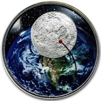 2019 1 OZ PROOF SILVER APOLLO 11 50TH ANNIV. OF THE MOON LAN