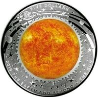 2019 1 OZ PROOF SILVER $1 THE SUN   DOMED EARTH AND BEYOND C