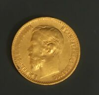 RUSSIA GOLD 5 ROUBLES COIN RUSSIAN SOLID GOLD 1898 CZAR NICH