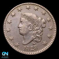 1828 CORONET HEAD LARGE CENT  HIGH GRADE   STRONG STRIKE    Z35