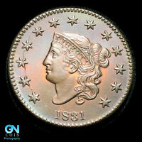 1831 CORONET HEAD LARGE CENT  GORGEOUS LUSTER AND EYE APPEAL   AMAZING    Z37