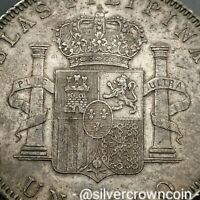 SCC PHILIPPINES UN PESO 1897 SGV. KM154. SILVER ONE DOLLAR CROWN COIN. ONE YEAR