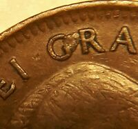 ERROR COIN 1951 EXTRA METAL BETWEEN G & R   GEORGE VI CANADA