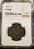 1810 CLASSIC HEAD LARGE CENT - NGC F 12 BN FINE