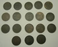 LOT OF 18 DIFFERENT CANADA VICTORIA LARGE CENTS 1C COINS 185