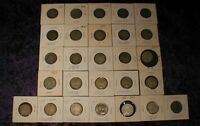 1939 TO 1970 CANADA 25 CENTS SILVER COINS ESTATE FIND LOT OF