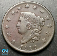 1819 CORONET HEAD LARGE CENT   --  MAKE US AN OFFER  G7008