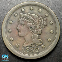 1852 BRAIDED HAIR LARGE CENT --  MAKE US AN OFFER  G7015