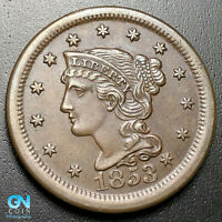 1853 BRAIDED HAIR LARGE CENT --  MAKE US AN OFFER  G7017