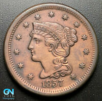 1857 BRAIDED HAIR LARGE CENT --  MAKE US AN OFFER  G7021