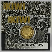 NEW ZEALAND - 2019 - $10 GOLD PROOF COIN - BROWN KIWI