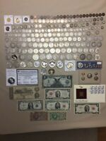 US COIN/PAPER MONEY LOT: GOLD SILVER BARBERS MORGANS PEACE $