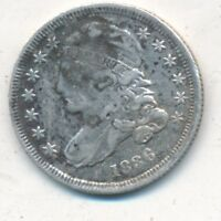 1836 CAPPED BUST SILVER DIME-SOLID DETAILS-CIRCULATED DIME-SHIPS FREE INV:2