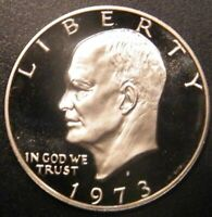 1973 S EISENHOWER DOLLAR CLAD PROOF FROM SETS IKE US MINT COIN