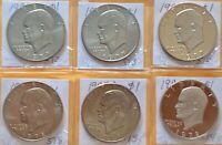 1977 & 1978 PDS EISENHOWER DOLLARS IKE $1 FROM MINT CELLO 6 COINS