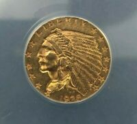 1928 $2.50 GOLD INDIAN QUARTER EAGLE ANACS AU58