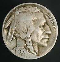 1936-P BUFFALO NICKEL DDO-001  BOLD THICK DOUBLE DIE OBVERSE ON DATE GC551