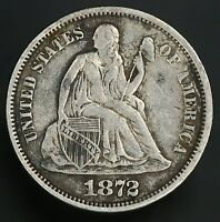 1872 SEATED LIBERTY DIME  VINTAGE DIME GC069