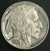 1937-D BUFFALO NICKEL FULL HORN WITH  ORIGINAL LUSTER GC249