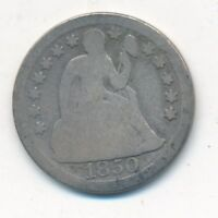 1850 SEATED LIBERTY SILVER DIME- CIRCULATED SILVER DIME-SHIPS FREE