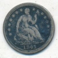 1841-O SEATED LIBERTY SILVER HALF DIME-A  CIRCULATED TYPE COIN-SHIPS FREE