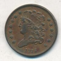 1832 CLASSIC HEAD HALF CENT-  LIGHTLY CIRCULATED TYPE COIN-SHIPS FREE