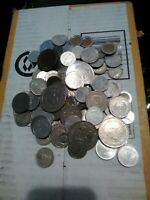 200 OF OLD ASSORTED FOREIGN COINS 129 OF THEM SILVER