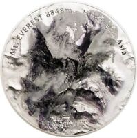 2017 5 OZ HIGH RELIEF SILVER MT. EVEREST   THE SEVEN SUMMITS