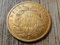 1857 10 FRANCS GOLD COIN FRANCE