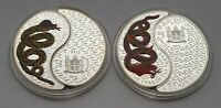 THE YEAR OF THE SNAKE   TWO PIECE   FIJI   1 DOLLAR  AC 0039