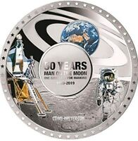2019 50G PROOF SILVER SOLOMON ISLAND $5 MOON LANDING 50TH AN