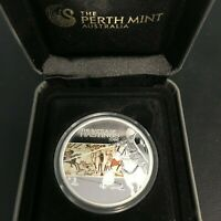 2009 SILVER PROOF COIN TUVALU 1 DOLLAR FAMOUS BATTLES IN HIS