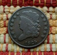 1825 CLASSIC HEAD HALF CENT, F/VF    ONLY 63,000 MINTED