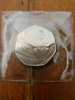 50P COIN 2016 OLYMPICS SWIMMING LIMITED EDITION